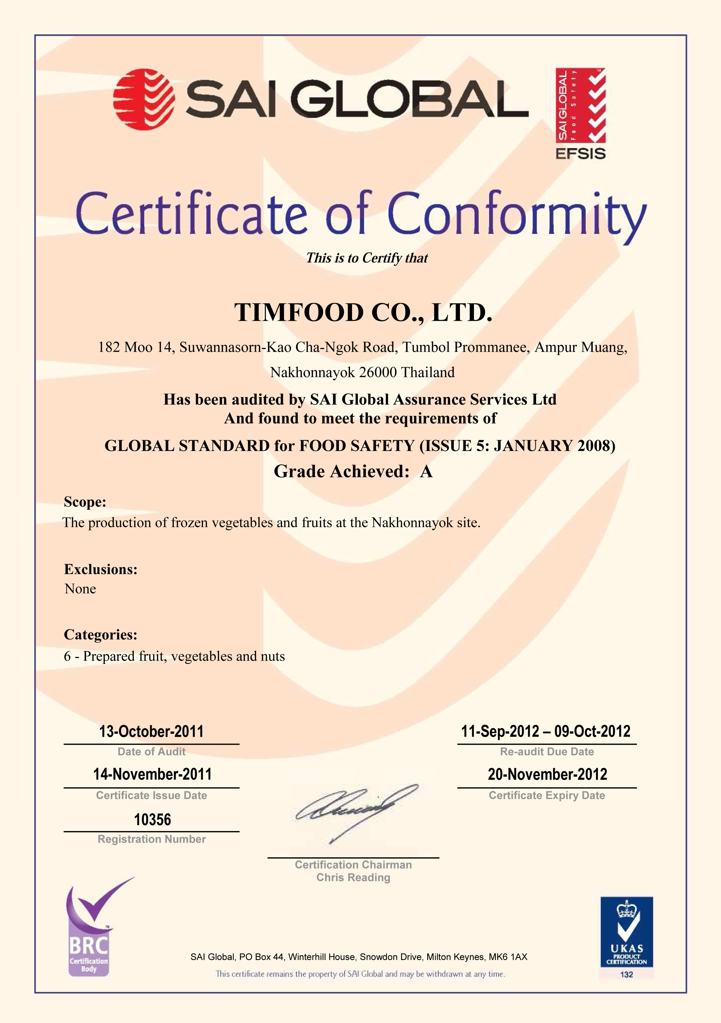 Timfood Co ,Ltd  :: Manufacturing and Exporting, Vegetables and Fruits